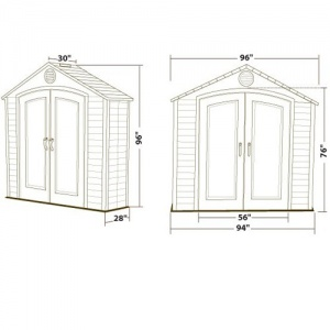 View Basket | New Account | Sign In.  sc 1 st  Andover Garden Buildings & Lifetime 7 x 4.5 Plastic Shed - AndoverGardenBuildings.co.uk